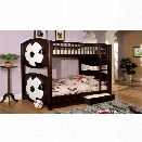 Furniture of America Felip Soccer Bunk Bed in Dark Walnut