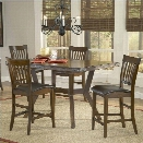 Hillsdale Arbor Hill 5 Piece Counter Height Dining Set in Chestnut