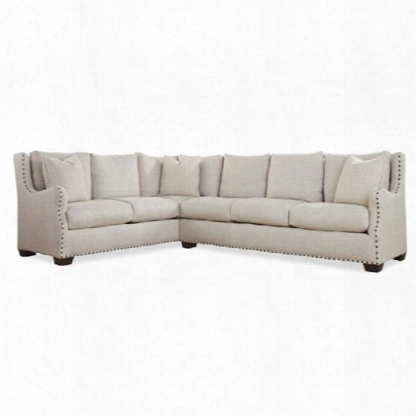 Universaal Furniture Connor 2 Piece Upholstered Left Sectional In Linen