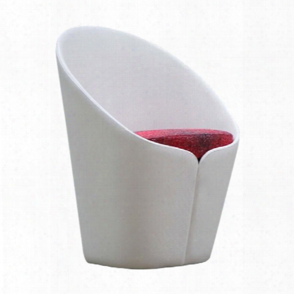 Vifah Butterfly Modern Accent Chair In White