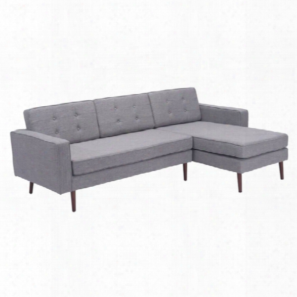 Zuo Puget Right Facing Sectional In Gray
