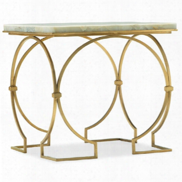 Hooker Furniture Melange Franz Jade Top End Table In White And Gold