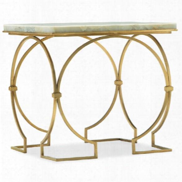 Hooker Furniture Melange Franz Jade Top End Table In White And Gold