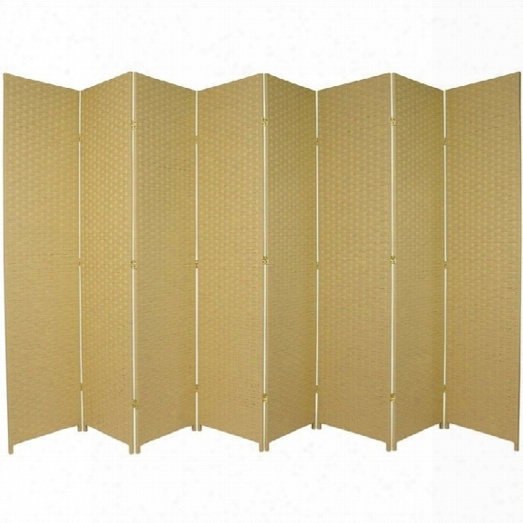 Oriental Furniture 7 ' Tall Room Divider In Dark Beige