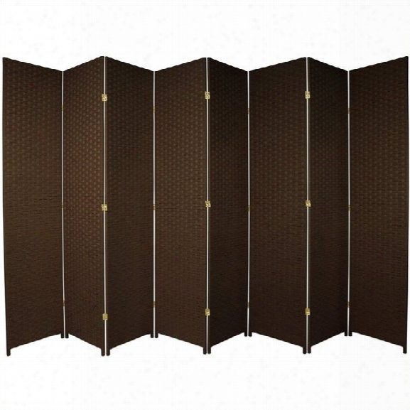 Oriental Furniture 7 ' Tall Room Divider With 8 Panel In Dark Mocha