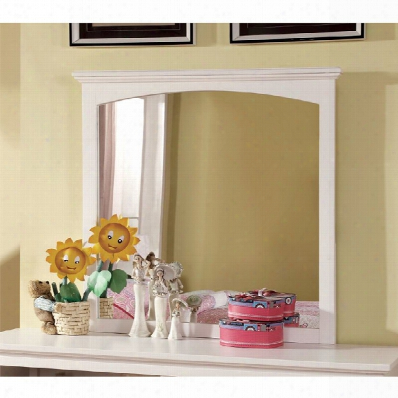 Furniture Of America Hailey Transitional Mirror In White