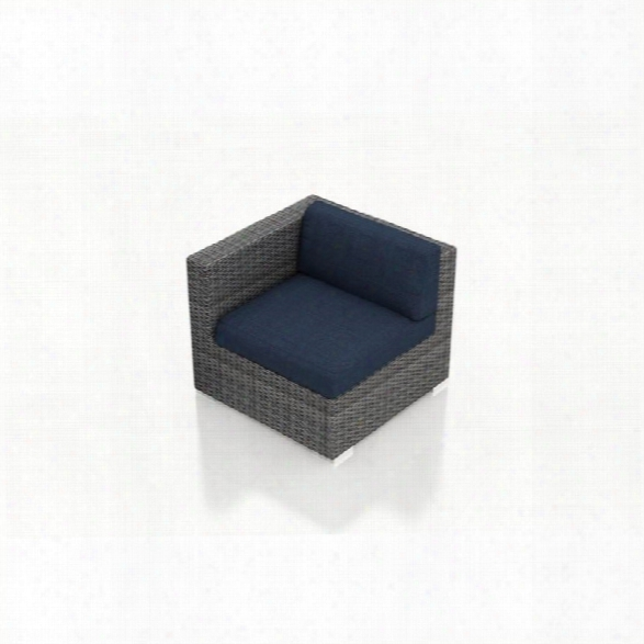 Harmonia Living District Left Arm Patio Chair In Spectrum Indigo