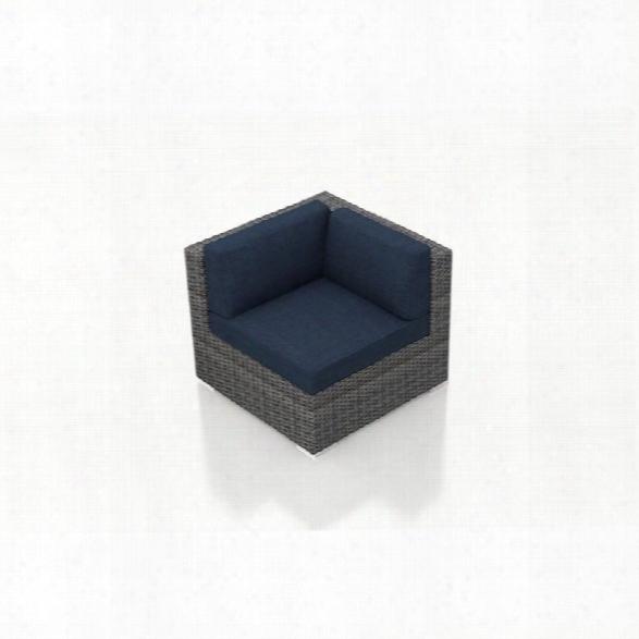 Harmonia Living District Patio Corner Chair In Spectrum Indigo