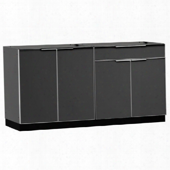 Newage Outdoor Kitchen 2 Piece Kitchen Set In Aluminum Slate