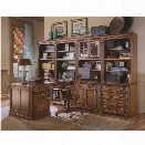 Hooker Furniture Brookhaven Home Office Unit with 2 Open Hutch