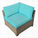 TKC Monterey Outdoor Wicker Corner Chair in Aruba (Set of 2)