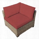 TKC Monterey Outdoor Wicker Corner Chair in Terracotta (Set of 2)