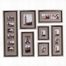 Uttermost Massena Photo Frame Collage in Antiqued Silver (Set of 7)