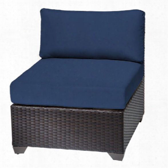 Tkc Barbados Armless Patio Chair In Navy (set Of 2)
