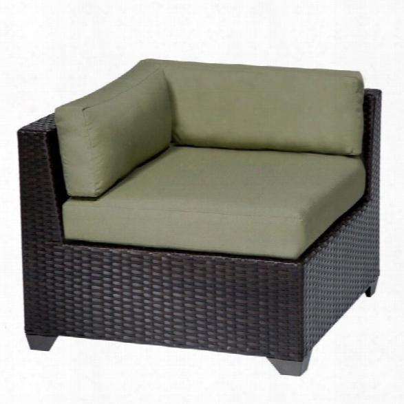 Tkc Belle Outdoor Wicker Corner Chair In Cilantro (set Of 2)