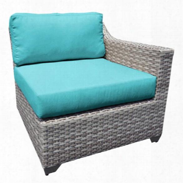 Tkc Fairmont Left Arm Patio Chair In Turquoise