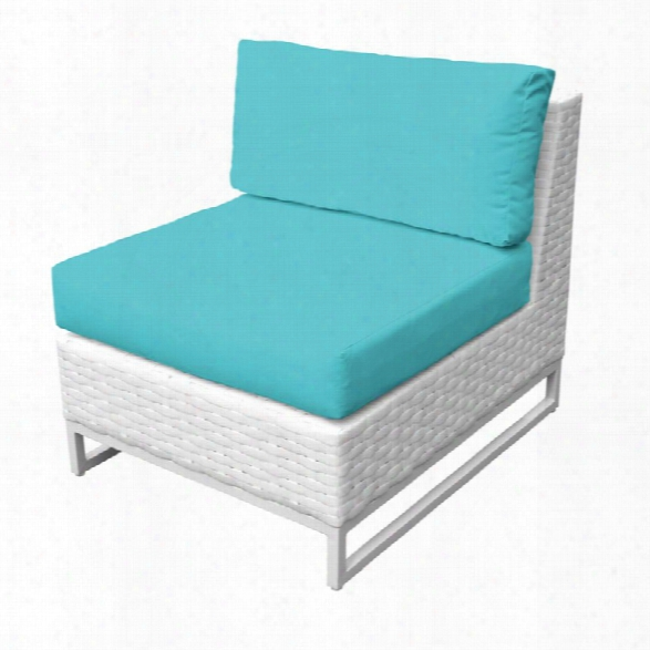 Tkc Miami Armless Patio Chair In Turquoise (set Of 2)