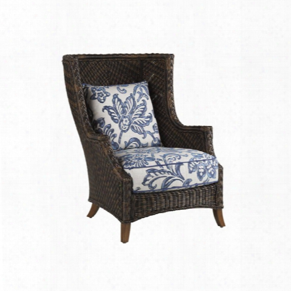 Tommy Bahama Island Estate Lanai Patio Wing Chair In Warm Umber