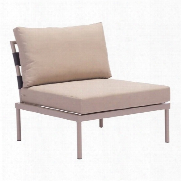 Zuo Glass Beach Outdoor Chair In Taupe