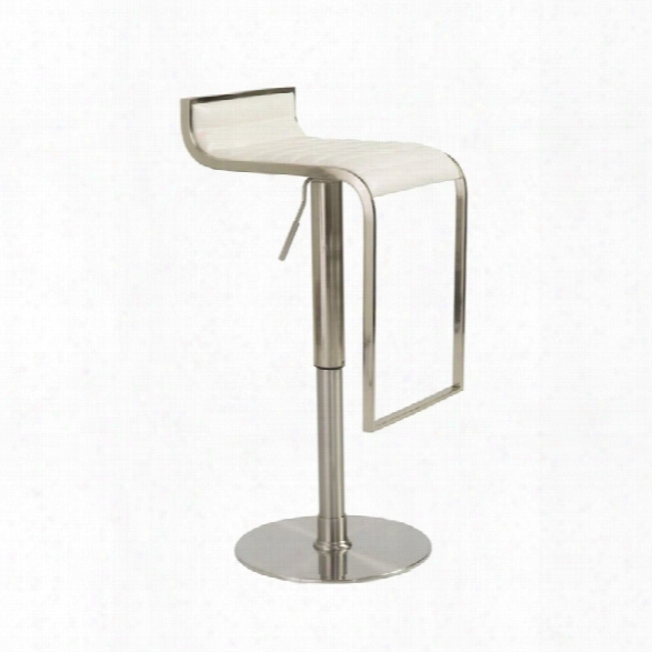 Eurostyle Forest 20.1 Adjustable Swivel Bar Stool In White