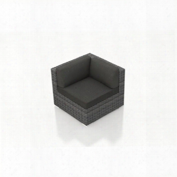 Harmonia Living District Patio Corner Chair In Canvas Charcoal
