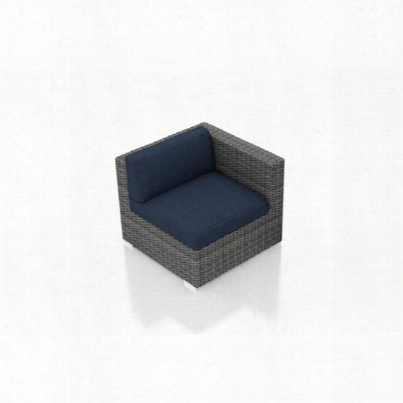 Harmonia Living District Right Arm Patio Chair In Spectrum Indigo