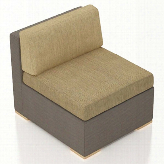 Harmonia Living Element Armless Patio Chair In Heather Beige