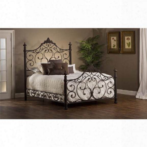 Hillsdale Baremore King Poster Bed In Antique Brown