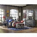 Hillsdale Urban Quarters 4 Piece Twin Panel Bedroom Set in Black Steel