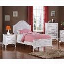Picket House Furnishings Jenna 3 Piece Twin Kids Bedroom Set in White