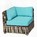 TKC Cape Cod Outdoor Wicker Corner Chair in Aruba (Set of 2)