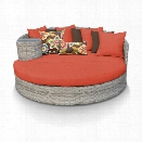 TKC Fairmont Round Patio Wicker Daybed in Orange