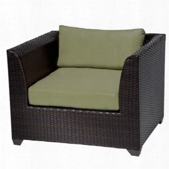 Tkc Barbados Outdoor Wicker Club Chair In Cilantro