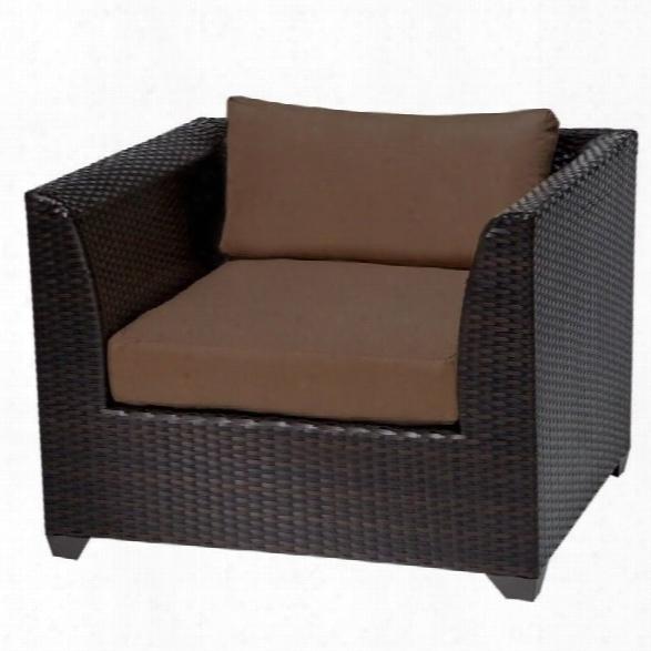 Tkc Barbados Outdoor Wicker Club Chair In Cocoa