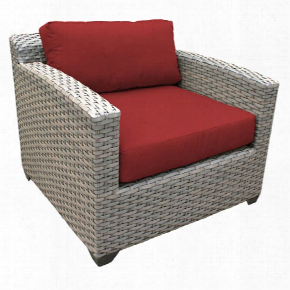 Tkc Florence Patio Wicker Club Chair In Red