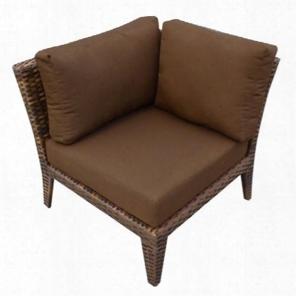 Tkc Manhattan Outdoor Wicker Corner Chair In Cocoa