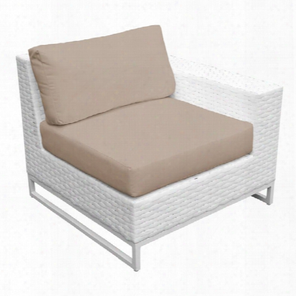 Tkc Miami Left Arm Patio Chair In Wheat