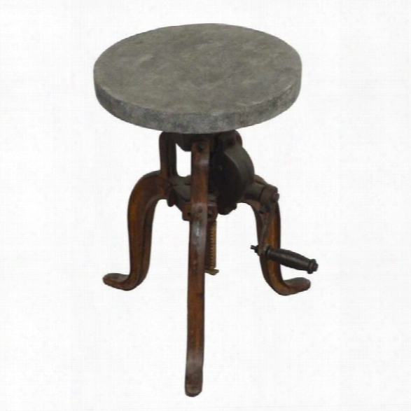 Yosemite 18-24 Adjustable Bistro Stool In Cement Coating