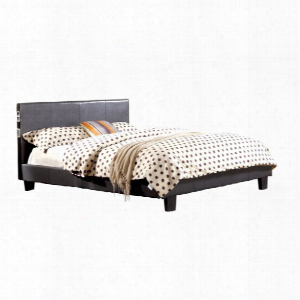 Furniture Of America Charlie King Platform Panel Bed In Gray