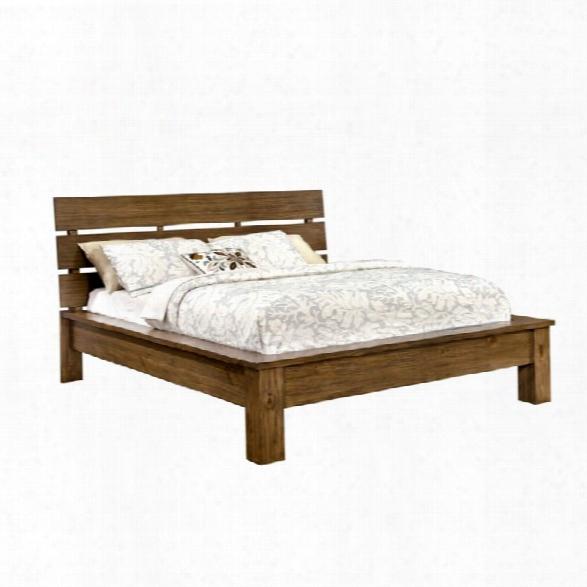 Furniture Of America Kendall California King Platform Bed In Pine Wood