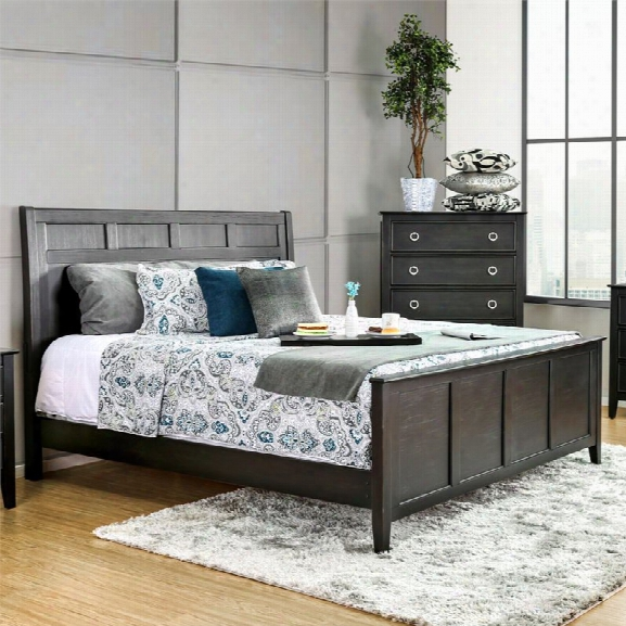 Furniture Of America Mardon California King Panel Bed In Black
