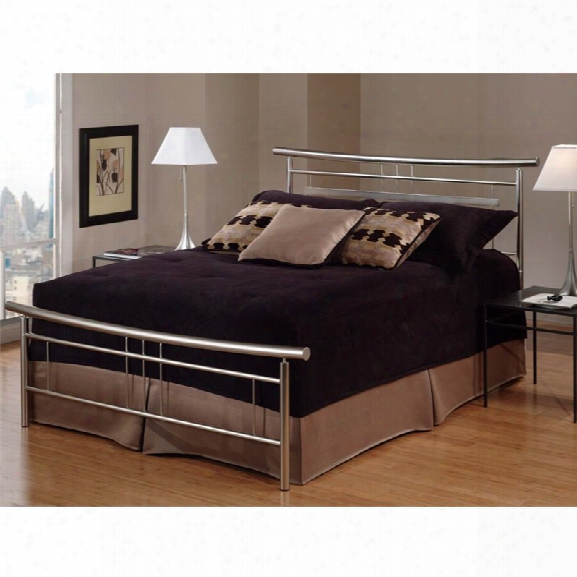 Hillsdale Soho King Spindle Bed In Brushed Nickel