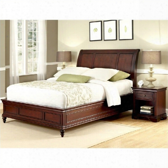 Home Styles Lafayette Sleigh Bed And Night Stand-queen