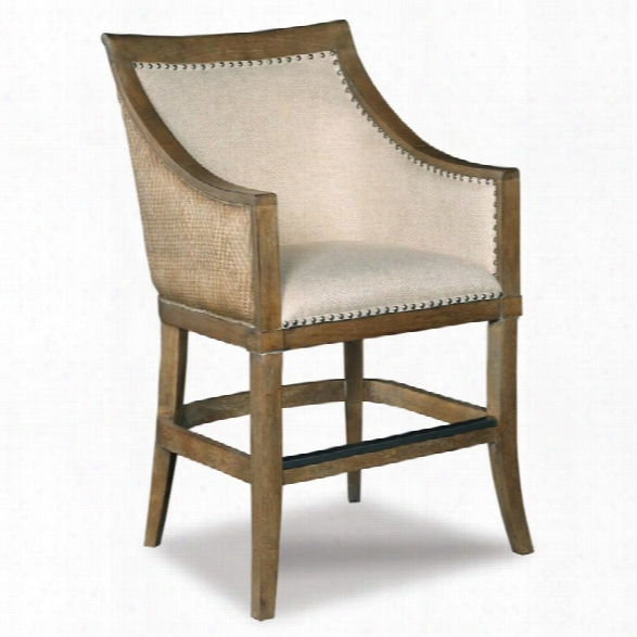 Hooker Furniture Sea Breeze 24 Tropical Counter Stool In Light Wood