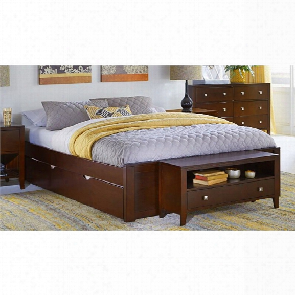 Ne Kids Pulse Queen Platform Bed With Rundle In Cherry