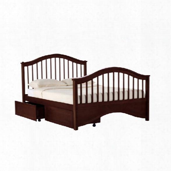 Ne Kids School House Jordan Full Storage Slat Bed In Cherry