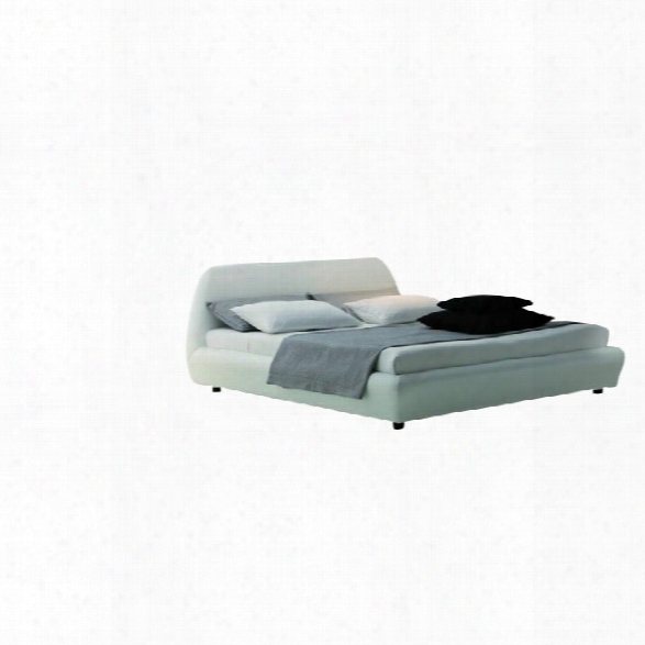 Rossetto Downtown Platform Bed In White-queen