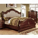 Furniture of America Marcella California King Upholstered Sleigh Bed