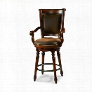 Hooker Furniture Waverly Place 31.25 Swivel Bar Stool in Cherry