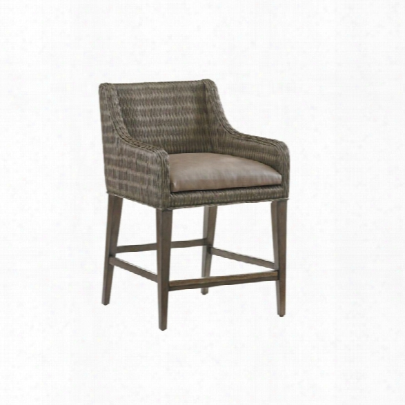 Tommy Bahama Cypress Point Woven Counter Stool In Gray